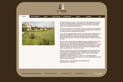 Website Aan de leie