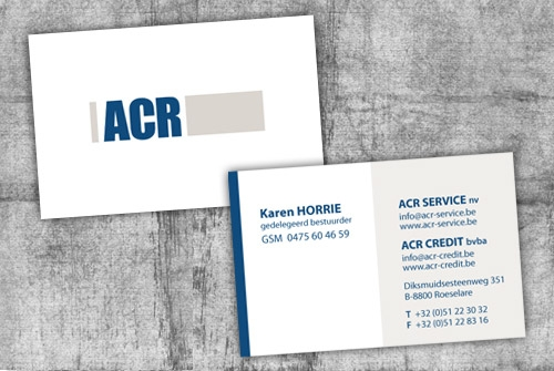 Visitekaartje ACR service