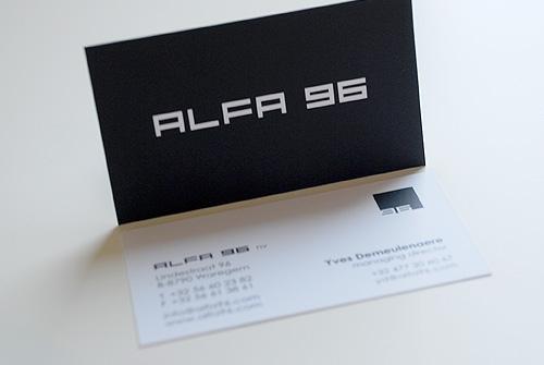 Visitekaartje Alfa 96