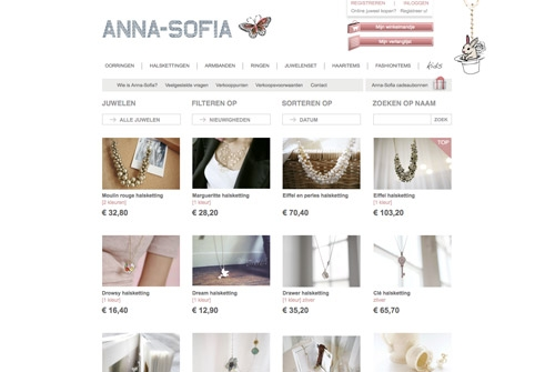 E-commerce webshop Anna-sofia
