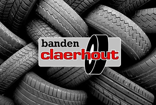 Spandoeken en kaders Banden Claerhout - banner beursstand