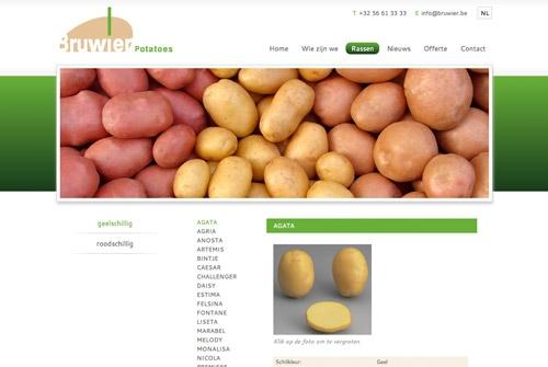 Website Bruwier Potatoes