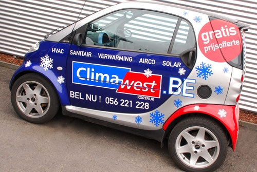 Belettering wagenpark Climawest