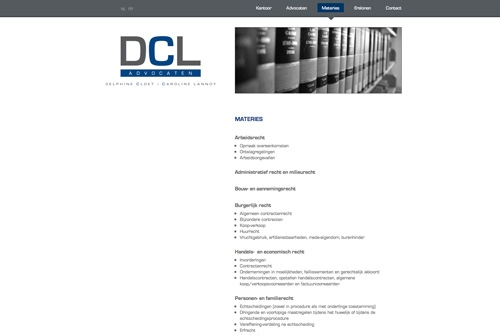 Website DCL Advocaten