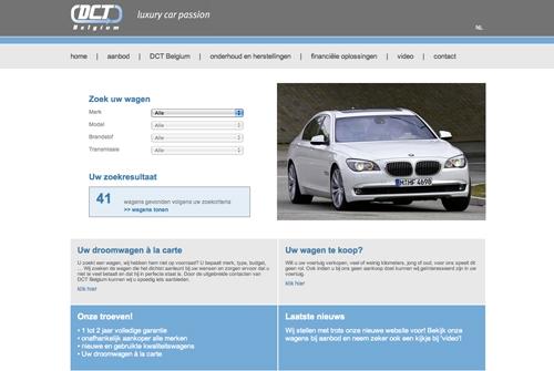 Website DCT Belgium