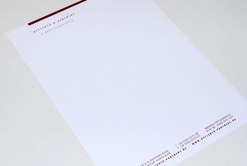 Briefpapier Declerck en Partners
