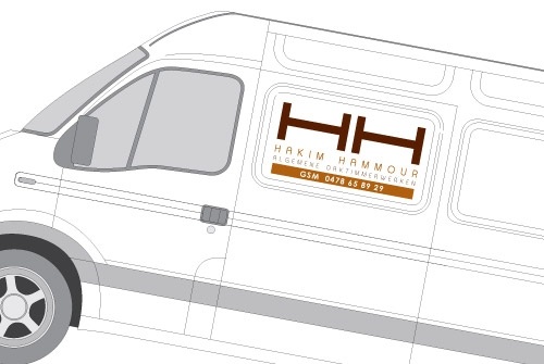 Belettering wagenpark HH Daken
