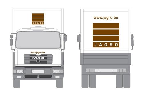 Belettering wagenpark Jagro