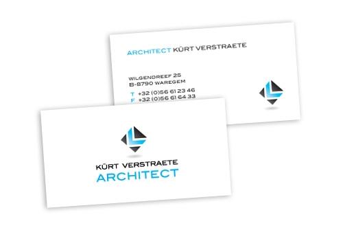 Visitekaartje Architect Kurt Verstraete