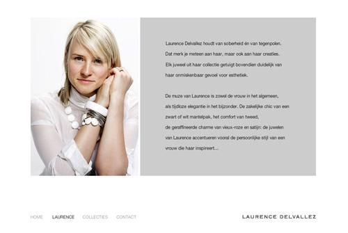 Website Laurence Delvallez