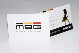 Misses Belgium Globe visitekaartje