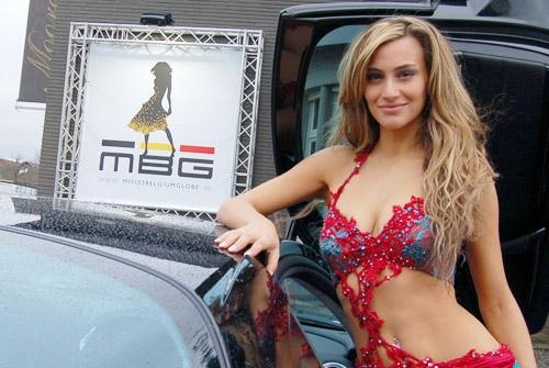 Spandoeken en kaders Misses Belgium Globe