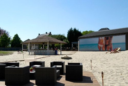 Spandoeken en kaders Moorea Beach