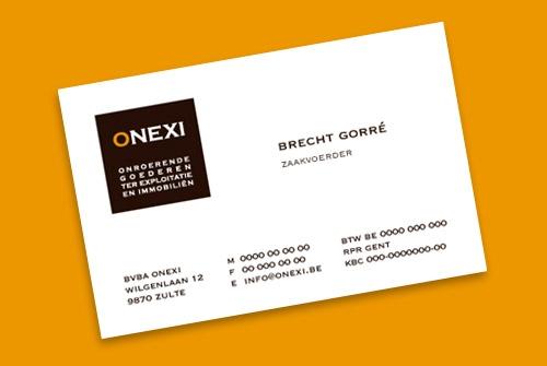 Visitekaartje Onexi