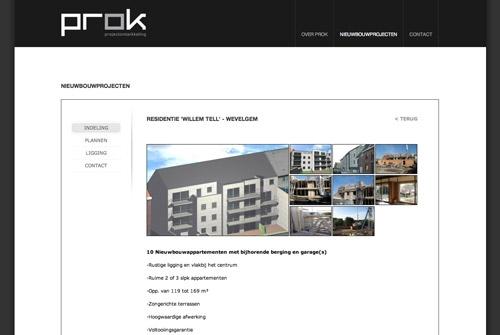 Website PROK vastgoed