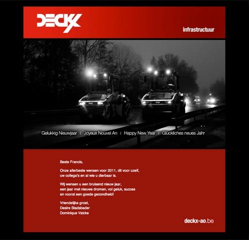 Digitale nieuwsbrief Deckx NV