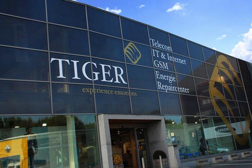 Gevelreclame Tiger