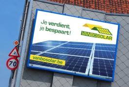 Vanbo Solar gevelreclame