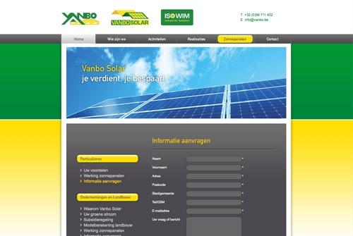 Website Vanbo Solar