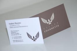 Villas Charmette visitekaartje