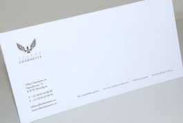 Villas Charmette with compliments card