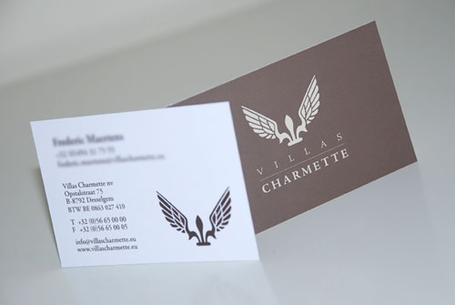 Visitekaartje Villas Charmette