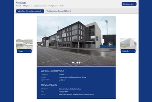 Website Willy Naessens Industriebouw