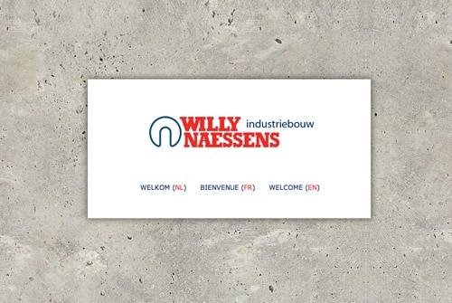 Website Willy Naessens Industriebouw