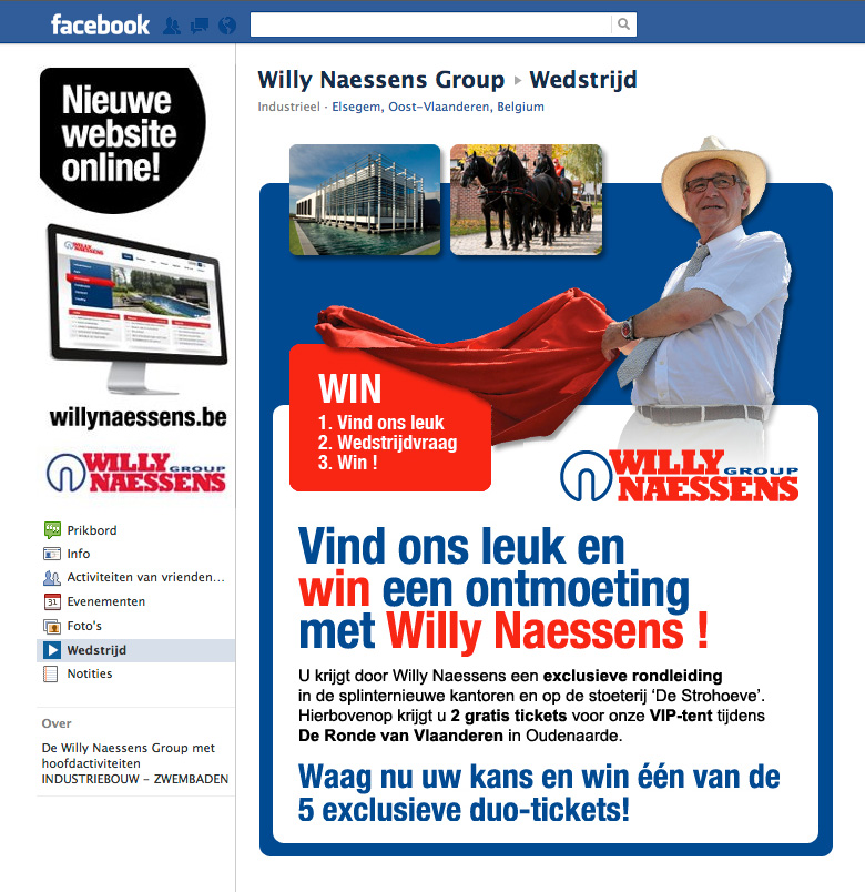 Integratie sociale media Willy Naessens Group