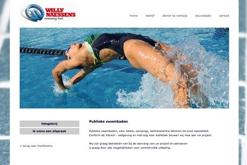 Website Willy Naessens Zwembaden